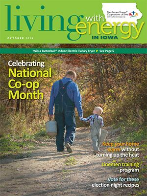 Living with Energy in Iowa October 2018 magazine cover